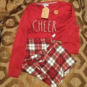 Rae Dunn CHEER Men's Pajama Christmas PJ Matching